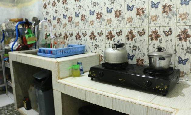 Dapur dengan perabotan lengkap, tamu bisa memasak disini.
